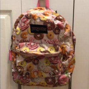 Girls donut print backpack
